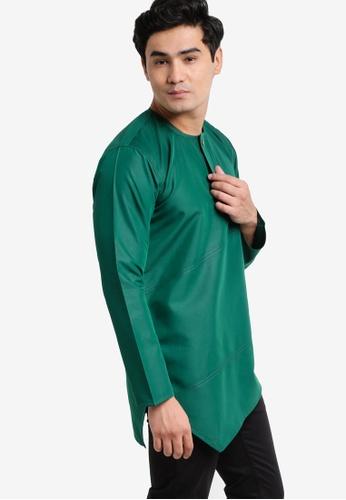 Amar Amran green Kurta Al Fattah AM362AA47JYAMY_1