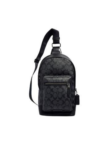 Coach black Coach Signature West Pack 2853 Crossbody Bag In Black Charcoal 2E68BACF59907CGS_1