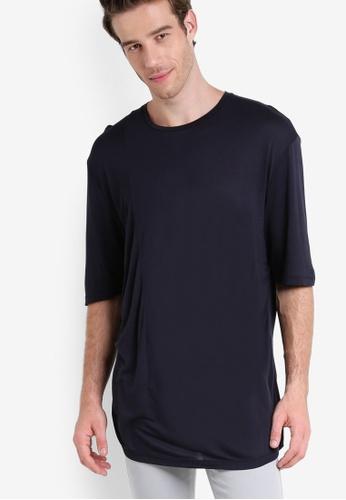 Topman black AAA Black Ruching T-Shirt TO413AA94XEJMY_1