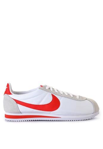 Nike white Nike Classic Cortez Nylon Running Shoes 61BEFSHF77ADD8GS_1