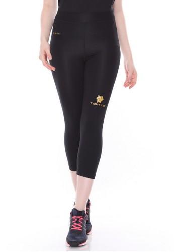 Jual Tiento Tiento Women Compression 3 4 Pants Black Gold Celana Legging Leging Lejing Sebetis Wanita Olahraga Yoga Zumba Senam Lari Running Voli Original Zalora Indonesia