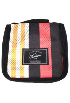 Jersey Stripe Travel And Toiletries Organizer