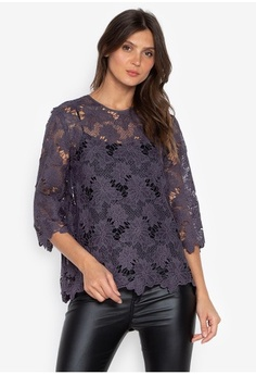 5964d2bb63dd4 Psst... we have already received your request. DEBENHAMS. Rjr.John Rocha -  Rjr Chunky Essential Lace Top