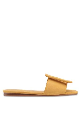 Mango yellow Buckle Flat Sandals 67DE9SH8FEF16DGS_1