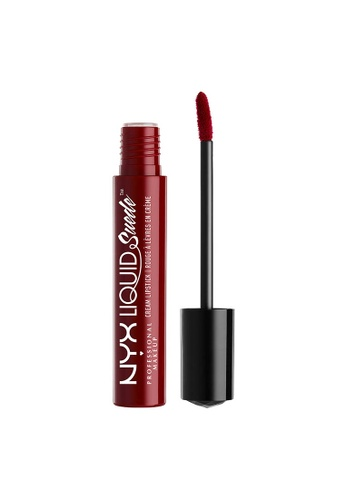 NYX Professional Makeup red NYX Professional Makeup Liquid Suede Cream Lipstick - CHERRY SKIES 43D27BE43DE9CBGS_1