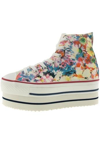 Maxstar 藍色 新款韩国鞋CN9-Flower時尚帆布布混合女藍色 US Women Size MA345SH57HGKTW_1