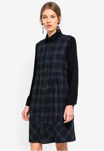 ESPRIT black Woven Midi Dress 3EFE9AA7AA54EBGS_1