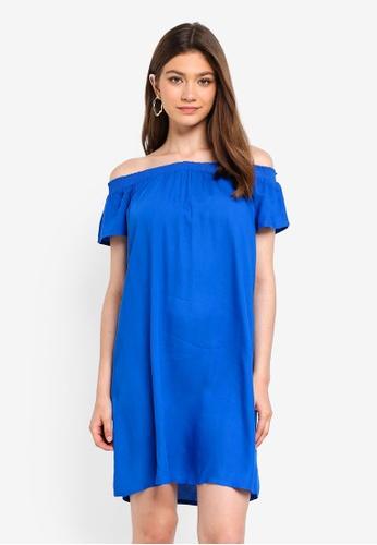 Pieces blue Mie Off Shoulder Dress 1CCA7AACB57343GS_1
