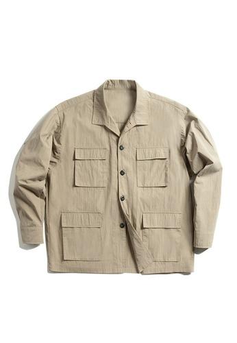 Twenty Eight Shoes brown VANSA Multi pockets overalls Coat  VCM-C2007166 CF4EBAA3E5086FGS_1