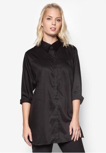 長版長袖襯衫esprit taiwan, 服飾, 上衣