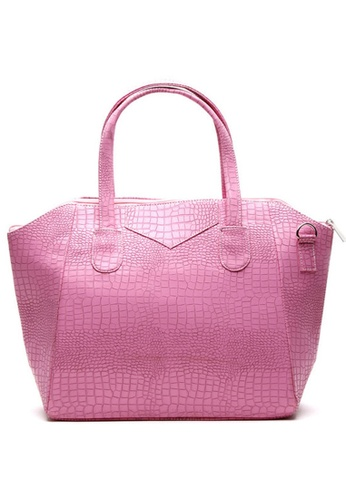 House of Bai pink Addie Phyton Shoulder Bag A HO716AC0K2SRPH_1