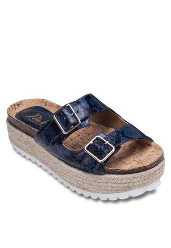 esprit 京站異材質厚底涼鞋, 女鞋, 涼鞋