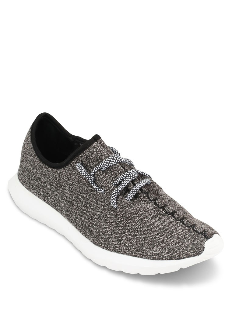 Jersey Knit Rope Lace Sneakers