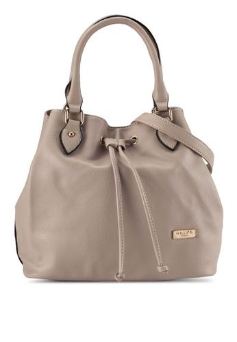 Unisa brown Textured Top Handle Bucket Bag UN821AC0R9RGMY_1