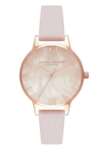 Olivia Burton gold SEMI PRECIOUS Rose-Quartz 30 mm Women's Watch 101EDAC9A66099GS_1