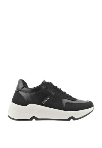 CO BLANC black CO BLANC Dual-Tone Lace Up Sneakers 0C0A4SHBE89E45GS_1