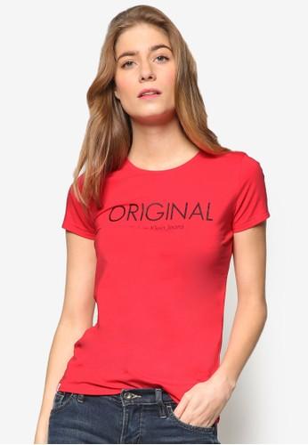 品牌esprit tst印花短袖TEE, 服飾, 上衣