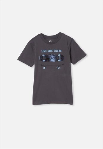 Cotton On Kids grey Downtown Short Sleeve Tee 40AF6KACE0B504GS_1