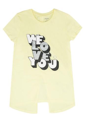 FOX Kids & Baby yellow Kids Girls Short Sleeve Tee 80560KAFE8A164GS_1