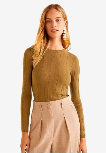 Mango brown Fine-Knit Sweater 00B90AAABB3160GS_1