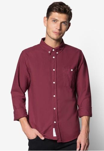 水洗棉esprit 尺寸質長袖襯衫, 服飾, 服飾