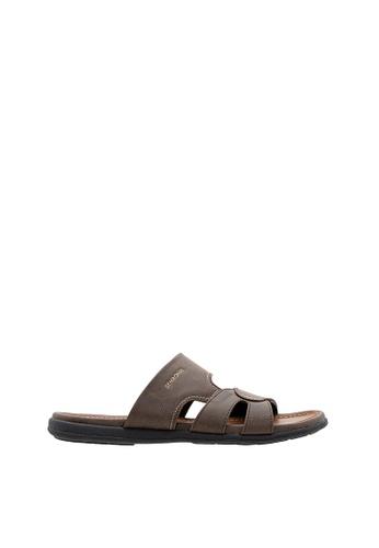 SEMBONIA brown SEMBONIA Men Sandal (Brown) 0BD23SH066857FGS_1
