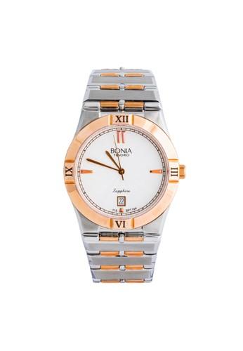 BONIA silver Bonia BPT194-1612 - Jam Tangan Pria - Silver Rosegold 79594AC9DEEB45GS_1
