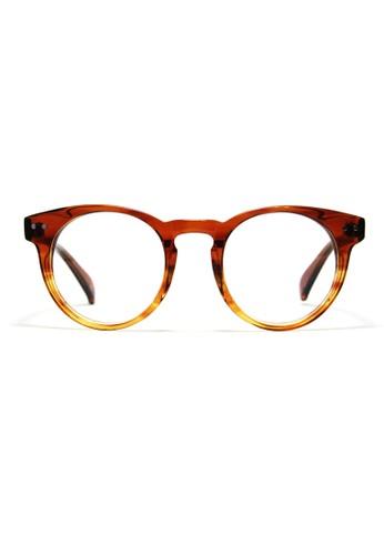 漸變焦糖色│復古框形│0004-Cesprit sg3, 飾品配件, 眼鏡