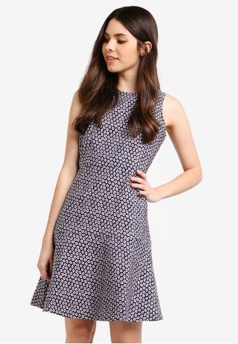 4b8dfac5d4b J.Crew multi and navy Piper Foulard A-Line Dress BC995AAC366FE1GS 1