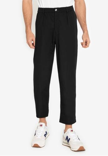 ZALORA BASICS black Pleated Front Trousers 693A7AA58B6E81GS_1