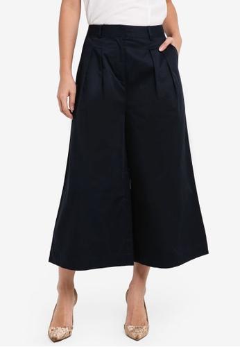 ZALORA navy Tailored Cotton Culottes 593C6AA2C223A3GS_1