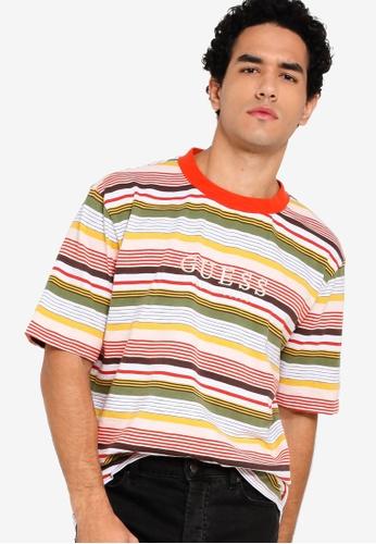 6a4603fb69 Guess multi Guess Originals Multicolor Striped Tee D3A7BAA9DB7088GS_1