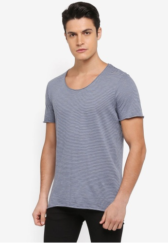 Selected Homme blue Newmerce Stripe O Neck Tee W Noos 27364AAE5FC226GS_1