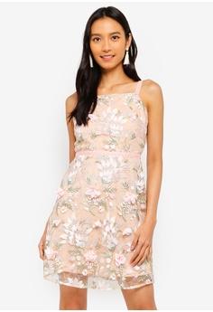 fb03760a65 Miss Selfridge pink Pink 3D Frill Mini Dress 74AF7AA715B64FGS 1
