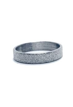 Stainless Steel Glittered Ring Slim