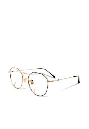 ASLLY gold Anniversary│Anti-blue light glasses with golden detailed frame 8B90DGL4870599GS_1