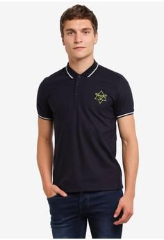Image of 3D Motif Polo Shirt