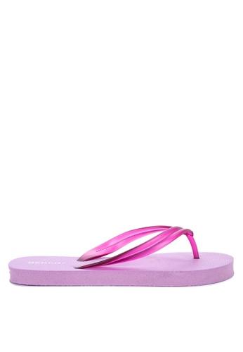 BENCH purple Rubber Slippers AE043SH3B2B3E6GS_1