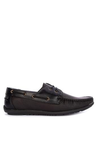 Itti black Lace up Boat Shoes 265E8SH9303DC9GS_1