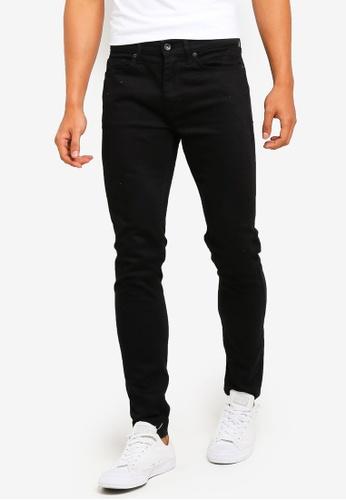 Topman 黑色 Black Stretch Skinny Jeans 9415AAA6DC5C22GS_1
