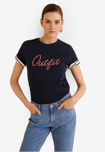 Mango blue Outfit T-Shirt 6F288AA8D392F3GS_1