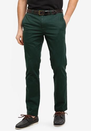 Brooks Brothers 綠色 修身直筒長褲 C065FAAF6F7202GS_1