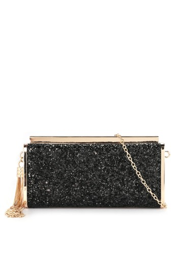 LYONS black Emmy Glitter Black Clutch 3F1E0AC0B553B9GS_1