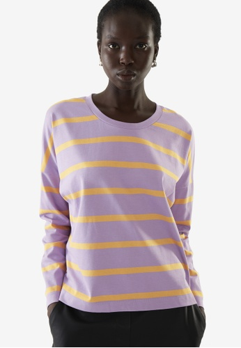COS purple Boxy Long-Sleeve Top 06620AAEC66AADGS_1