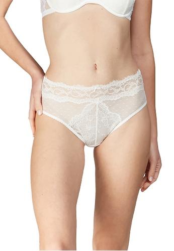 6IXTY8IGHT white 6IXTY8IGHT ODILIA SOLID, Lace High Waist Bikini Briefs PT10031 A36C7USEFA2A19GS_1