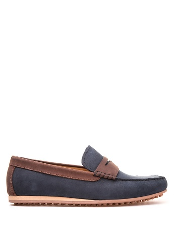 Bristol Shoes blue Stratton  Penny Loafer Driving Shoes BR842SH30KDTPH_1