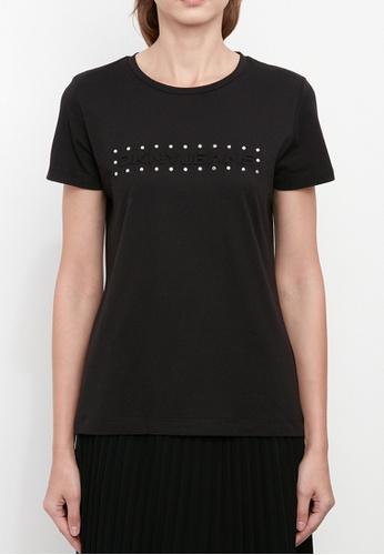 Dkny black DKNY Women Jeans Logo T-Shirt With Studs 63D96AA1913BFEGS_1