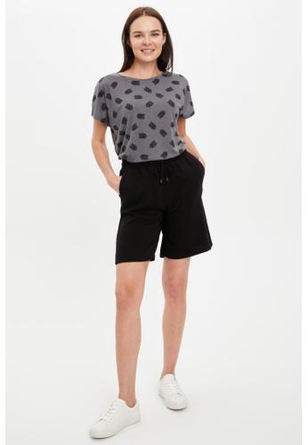 DeFacto grey Short Sleeve Round Neck T-Shirt 368E0AAEC90AE8GS_1