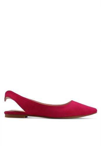 Velvet pink Microfiber Slingback Ballerina E89BDSH63E5809GS_1