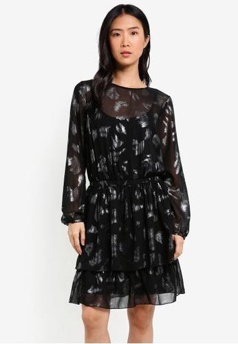 ESPRIT black Light Woven Midi Dress ES374AA0SEOLMY_1